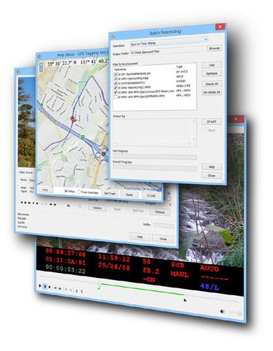 DVMP Pro 7 - time stamp AVCHD, MOV, MP4, HDV, and DV video files